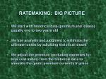 ratemaking big picture