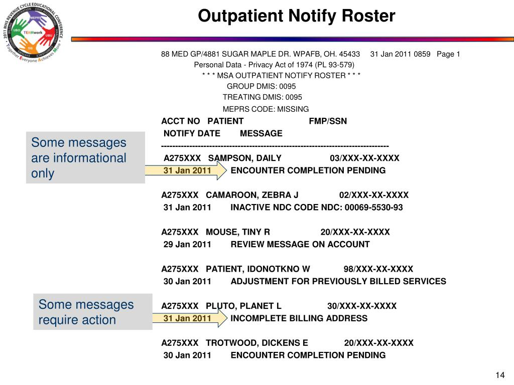 Outpatient Notify Roster