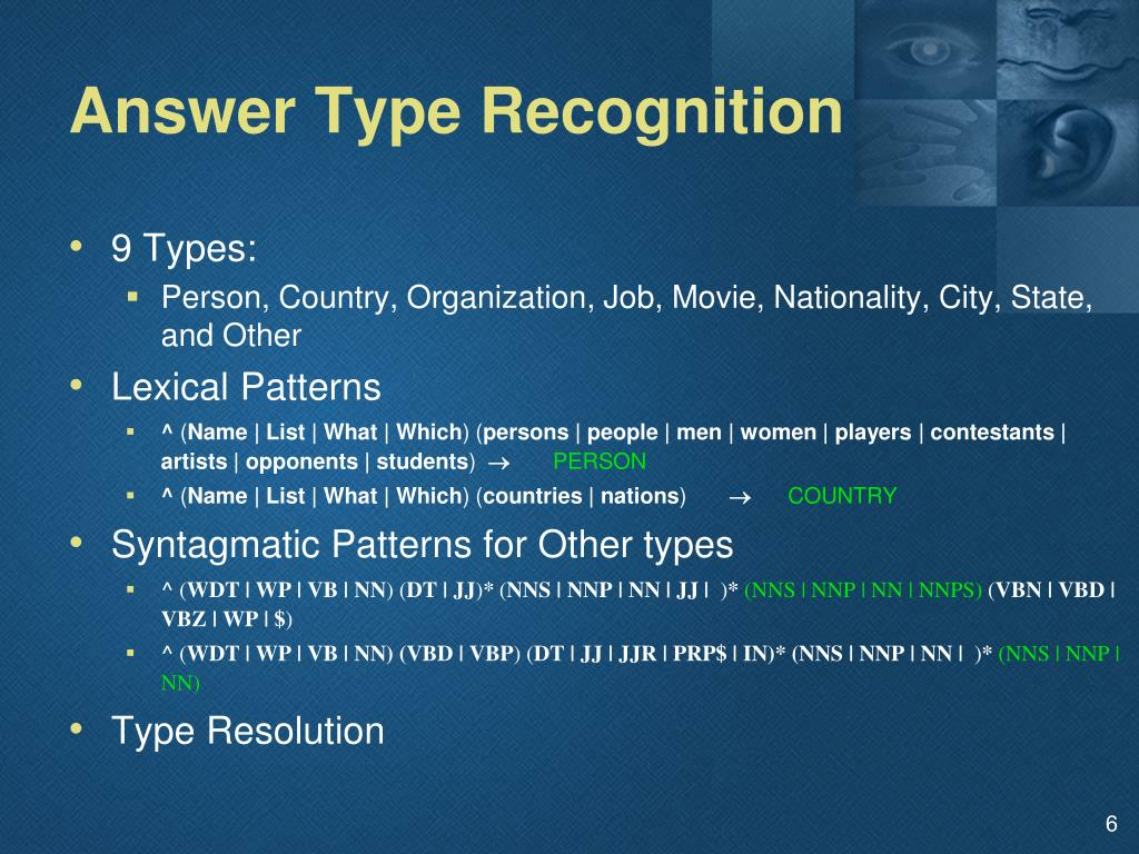 Answer Type Recognition