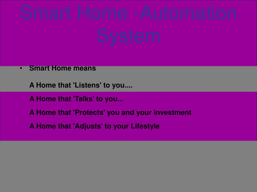 smart home automation system l.