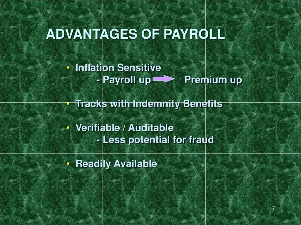 ADVANTAGES OF PAYROLL