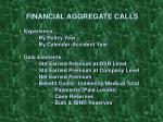 financial aggregate calls10