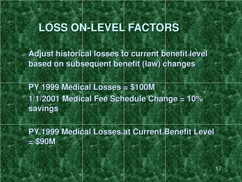 LOSS ON-LEVEL FACTORS