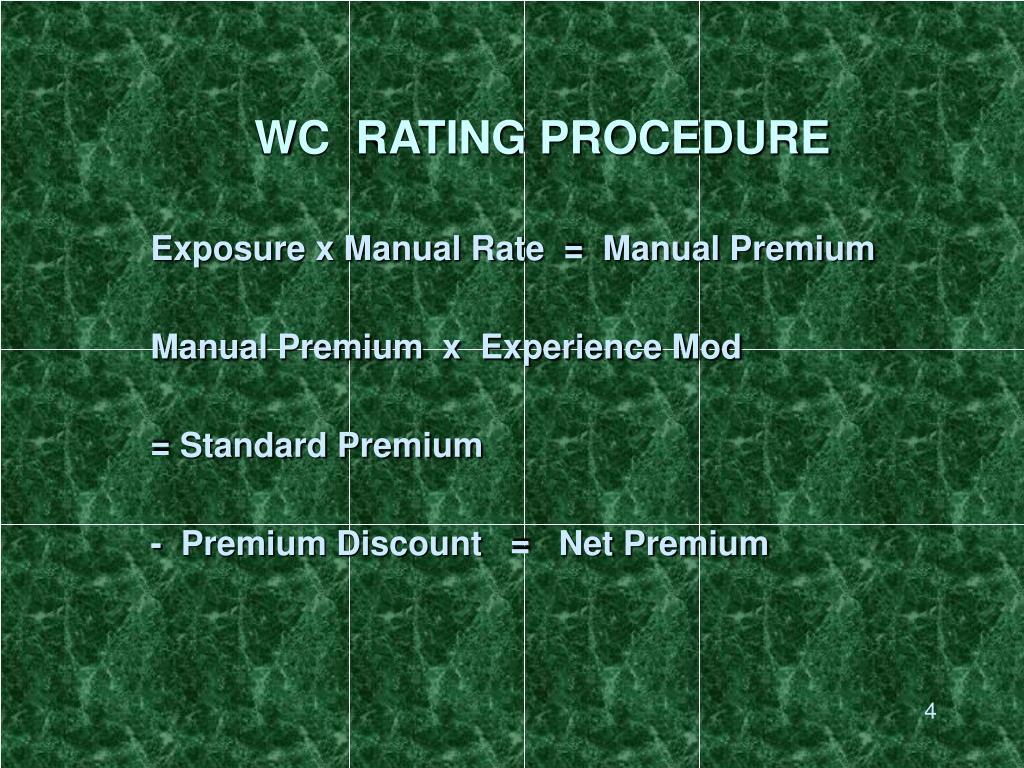 WC  RATING PROCEDURE