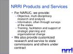 nrri products and services