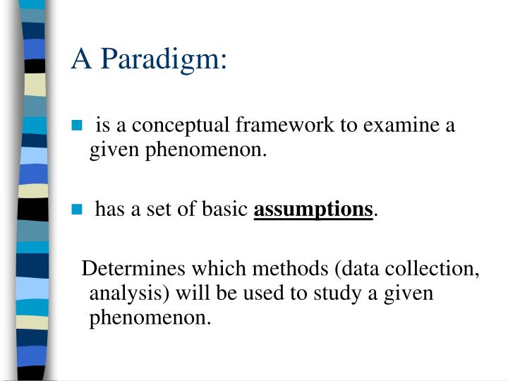 A paradigm