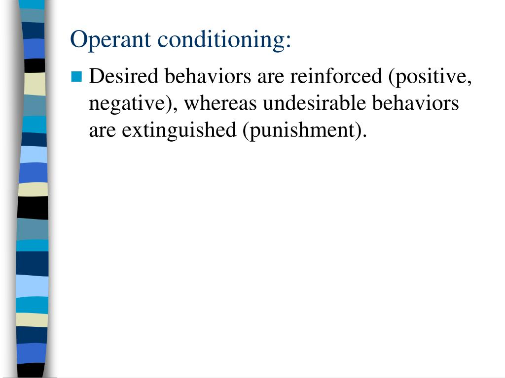 Operant conditioning: