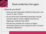 dead celebrities live again