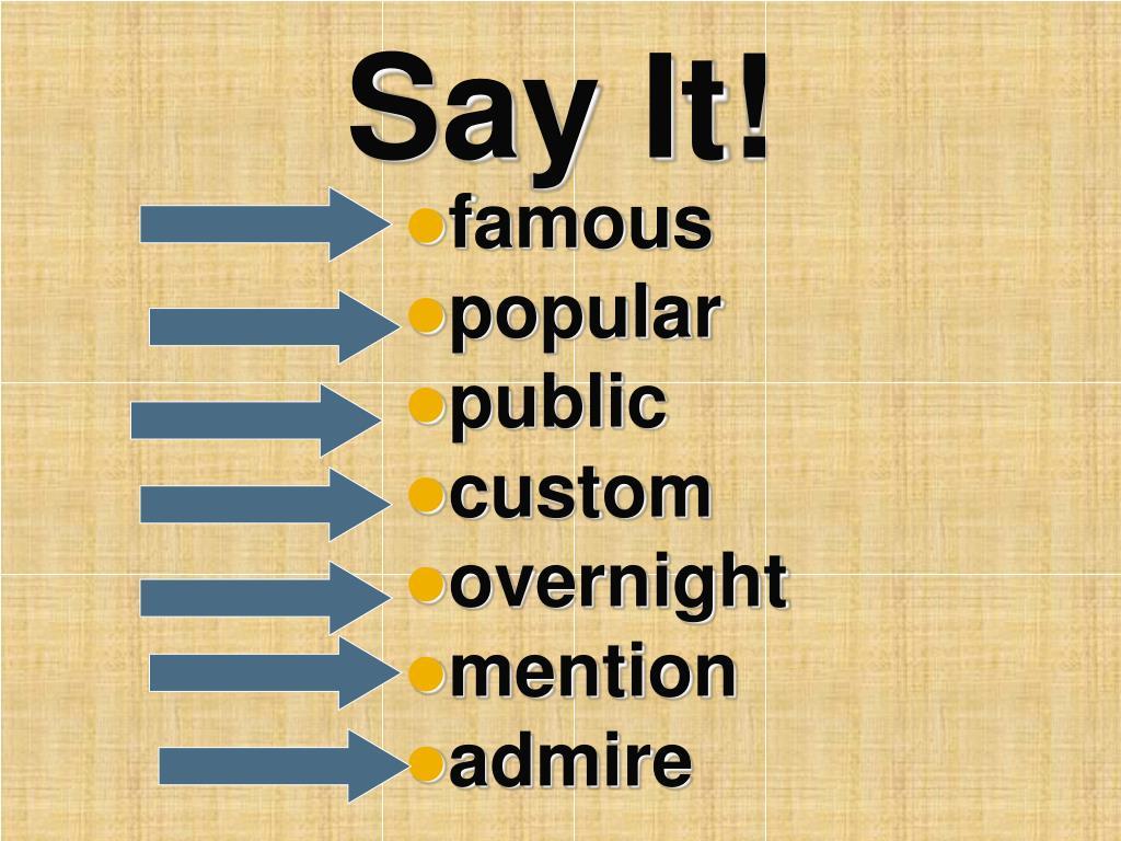 Say It!