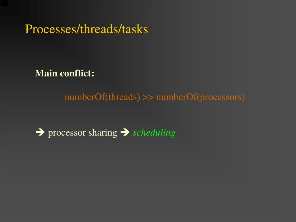 Processes/threads/tasks