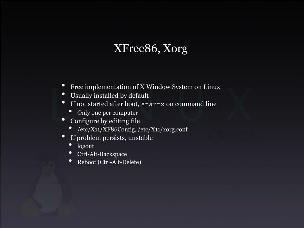 XFree86, Xorg