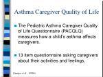 asthma caregiver quality of life