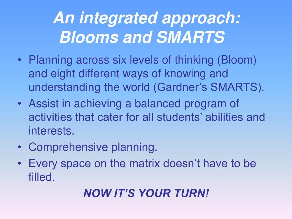 An integrated approach: