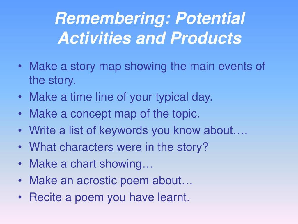 Remembering: