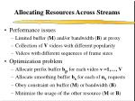 allocating resources across streams