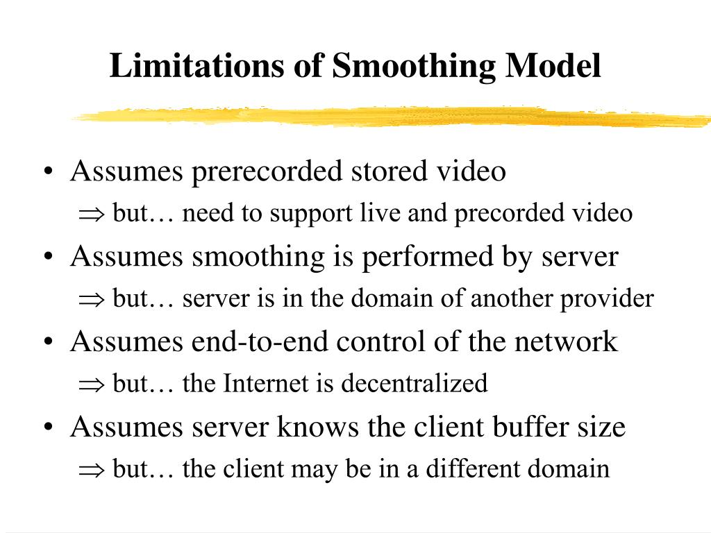 Limitations of Smoothing Model