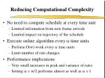 reducing computational complexity