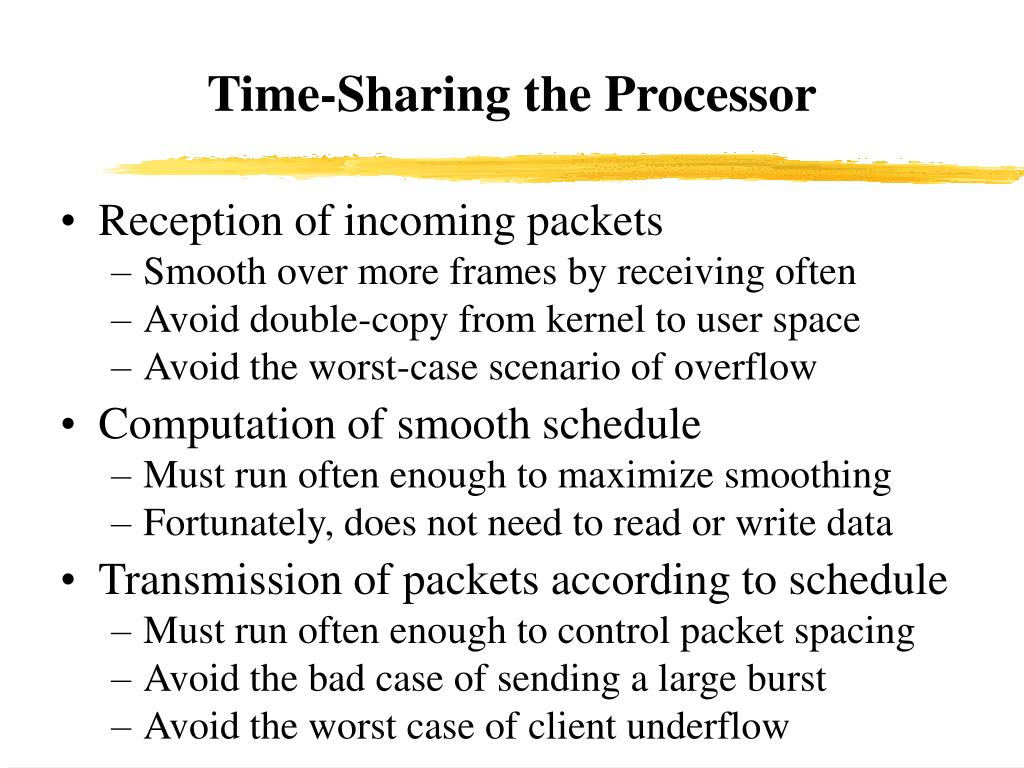 Time-Sharing the Processor