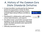 a history of the common core state standards initiative