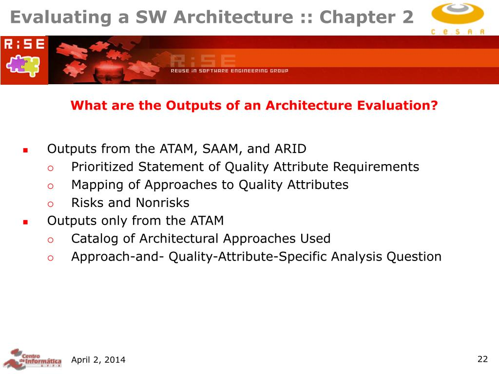 Evaluating a SW Architecture :: Chapter 2
