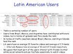 latin american users