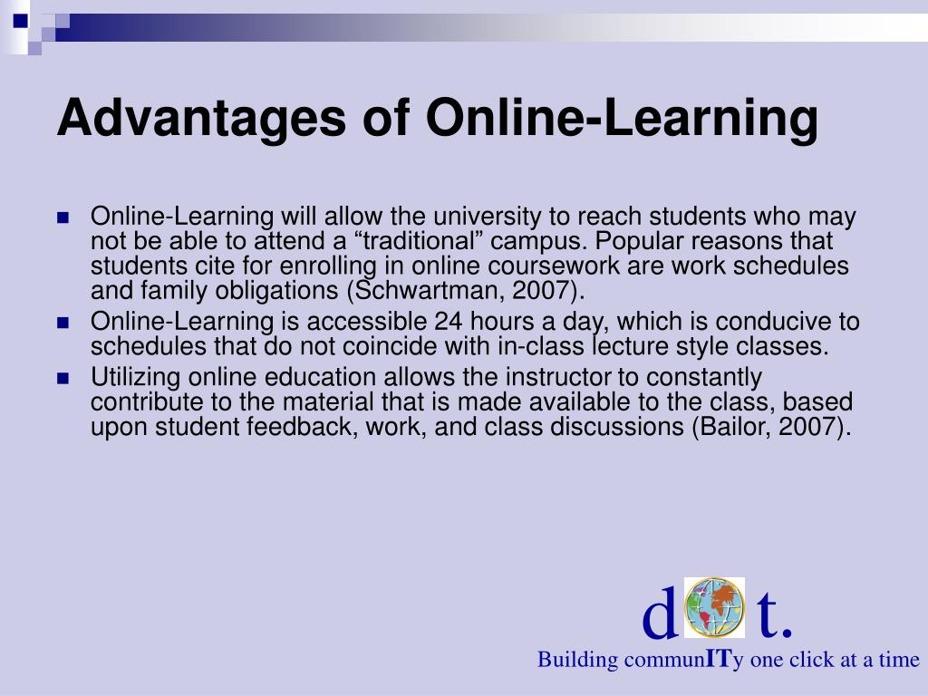 Advantages of Online-Learning