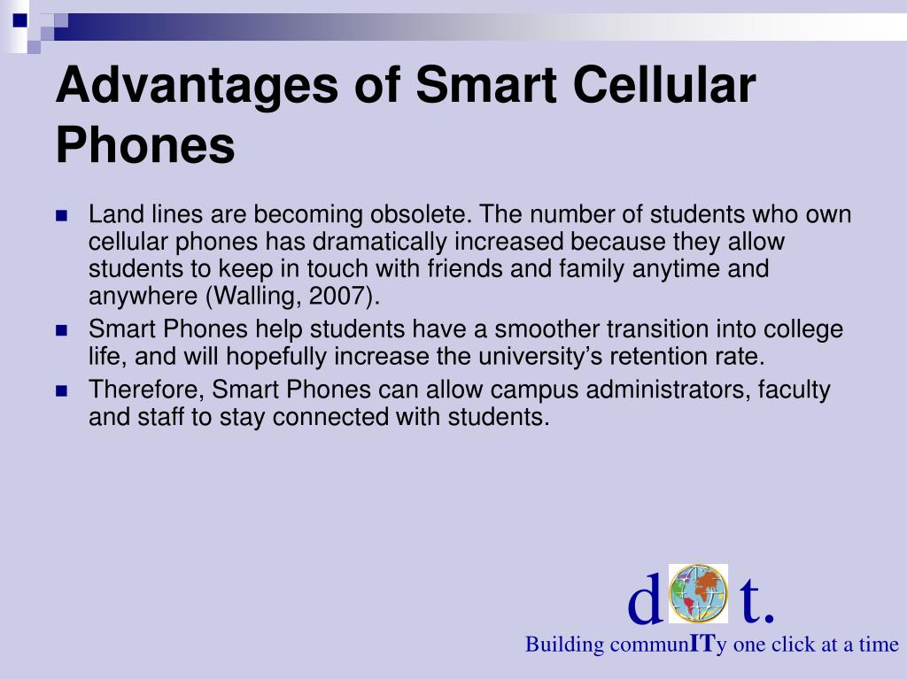 Advantages of Smart Cellular Phones