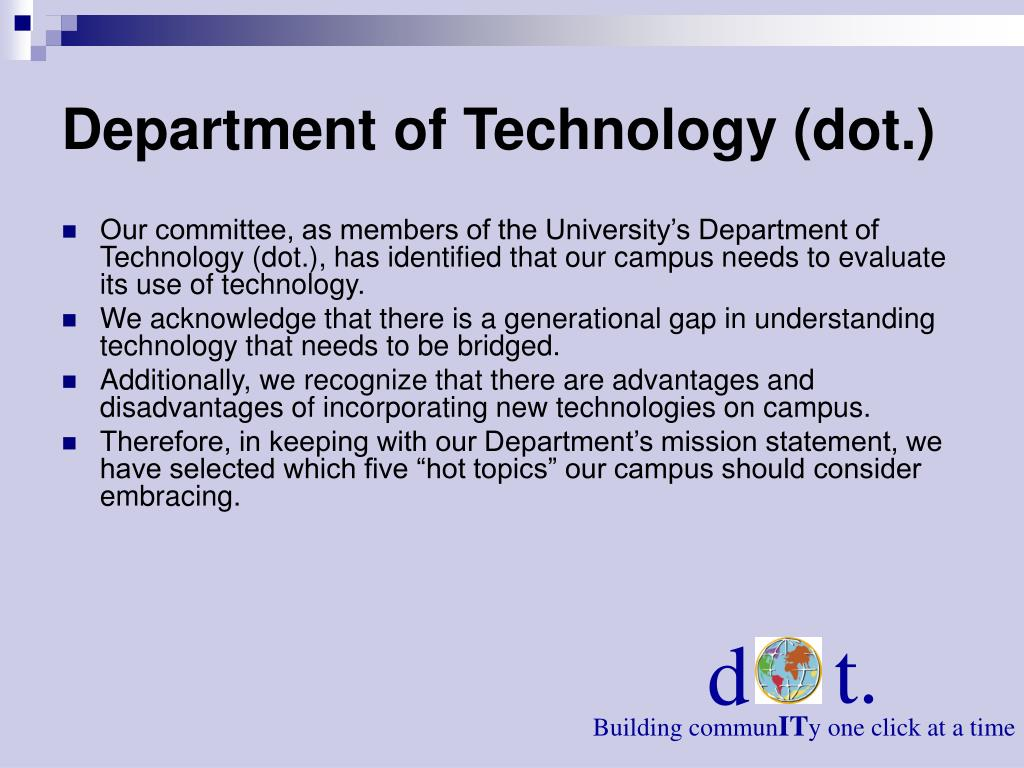 Department of Technology (dot.)