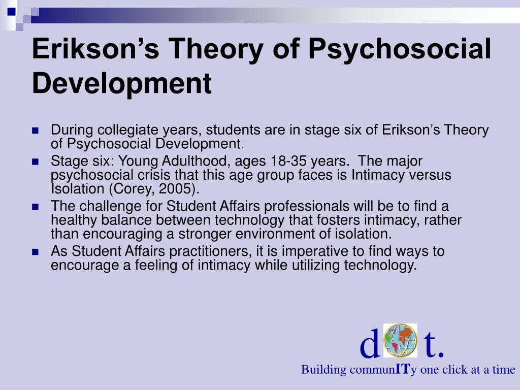 Erikson's Theory of Psychosocial Development