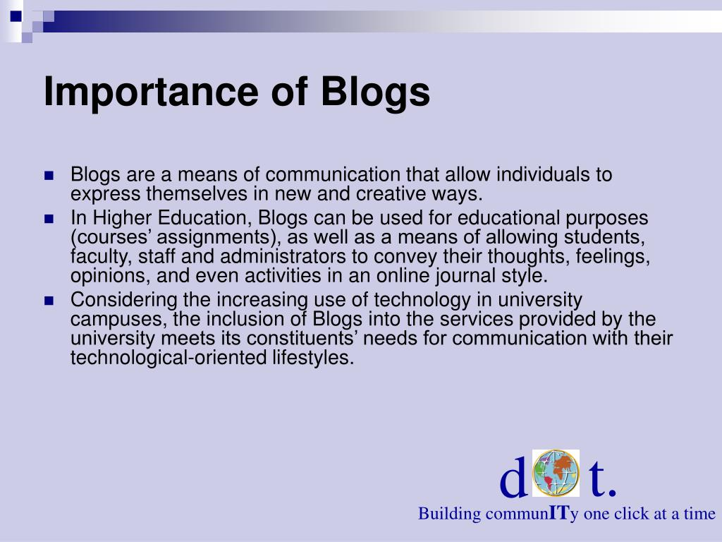 Importance of Blogs