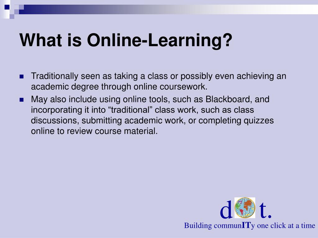 What is Online-Learning?