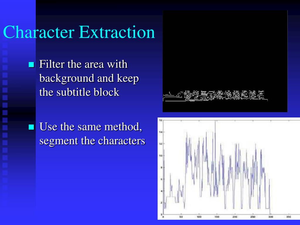 Character Extraction