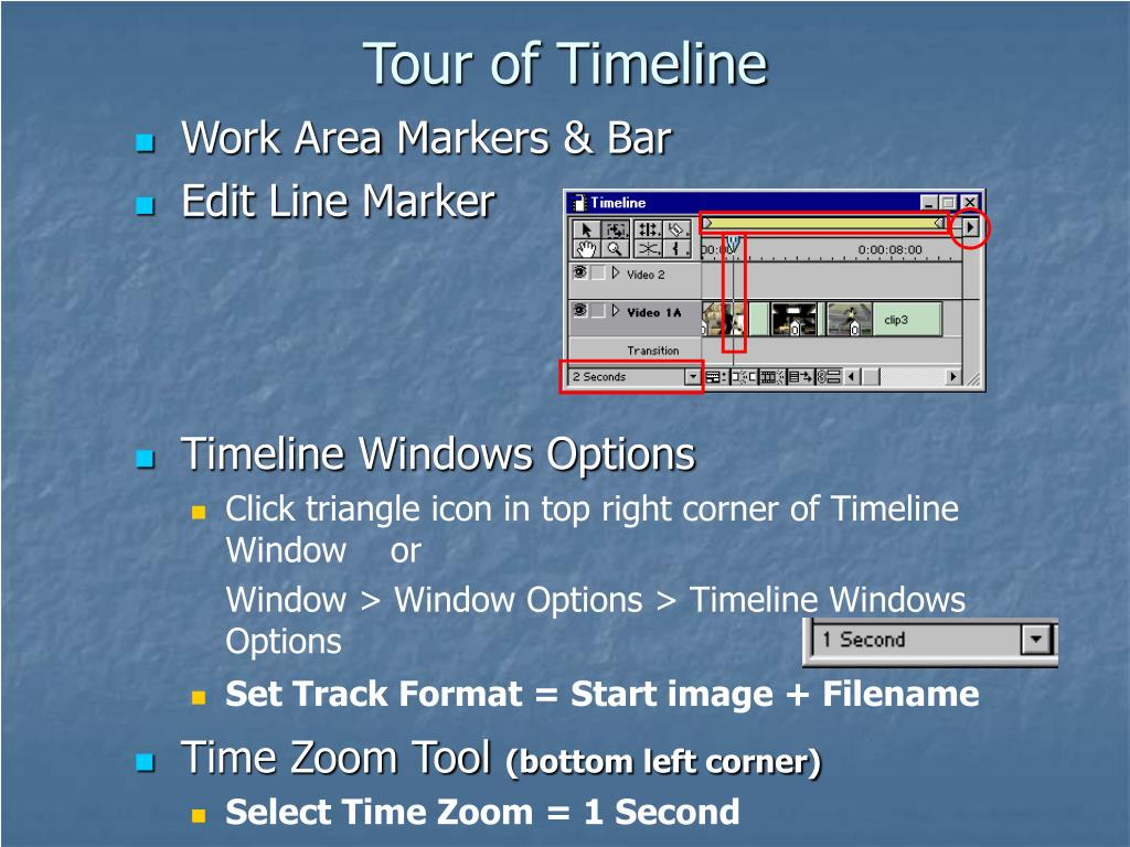 Tour of Timeline