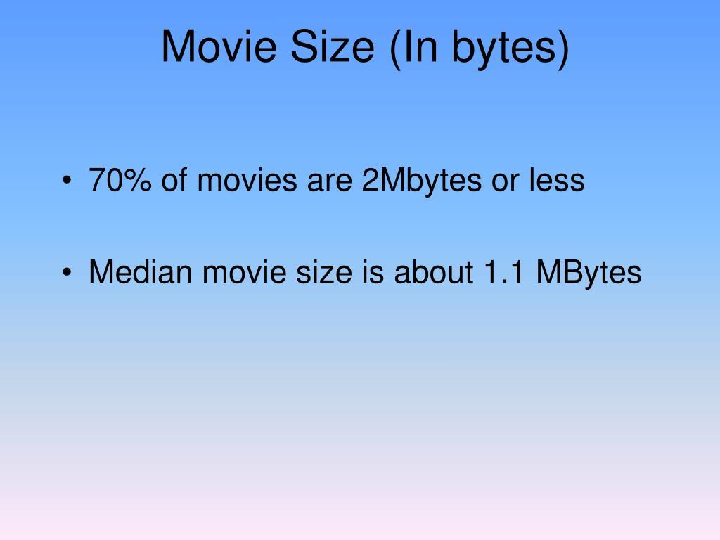 Movie Size (In bytes)