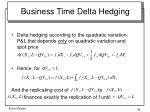 business time delta hedging