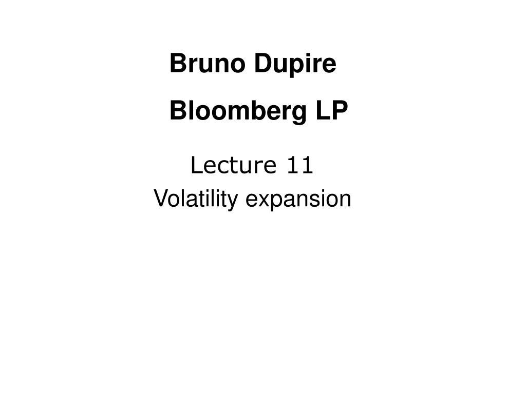 lecture 11 volatility expansion l.