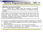 norma regulamentadora nr 1748