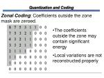 quantization and coding