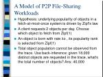 a model of p2p file sharing workloads