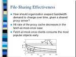 file sharing effectiveness