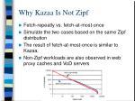 why kazaa is not zipf