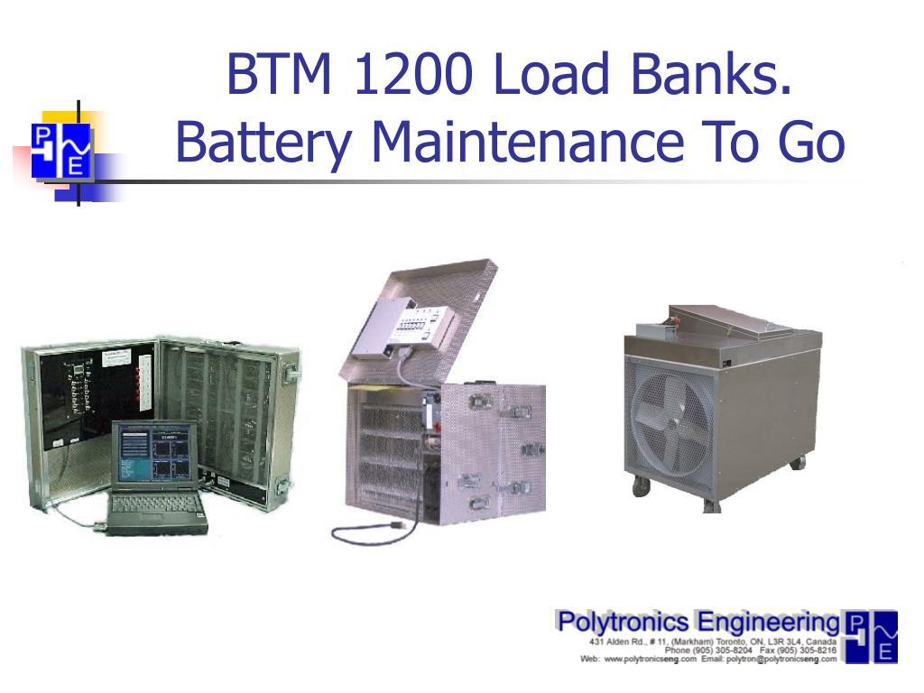 btm 1200 load banks battery maintenance to go l.