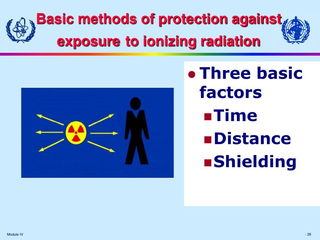 Basic methods of protection against e