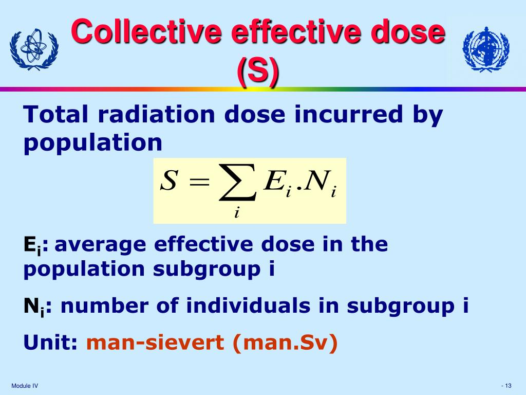 Collective effective dose
