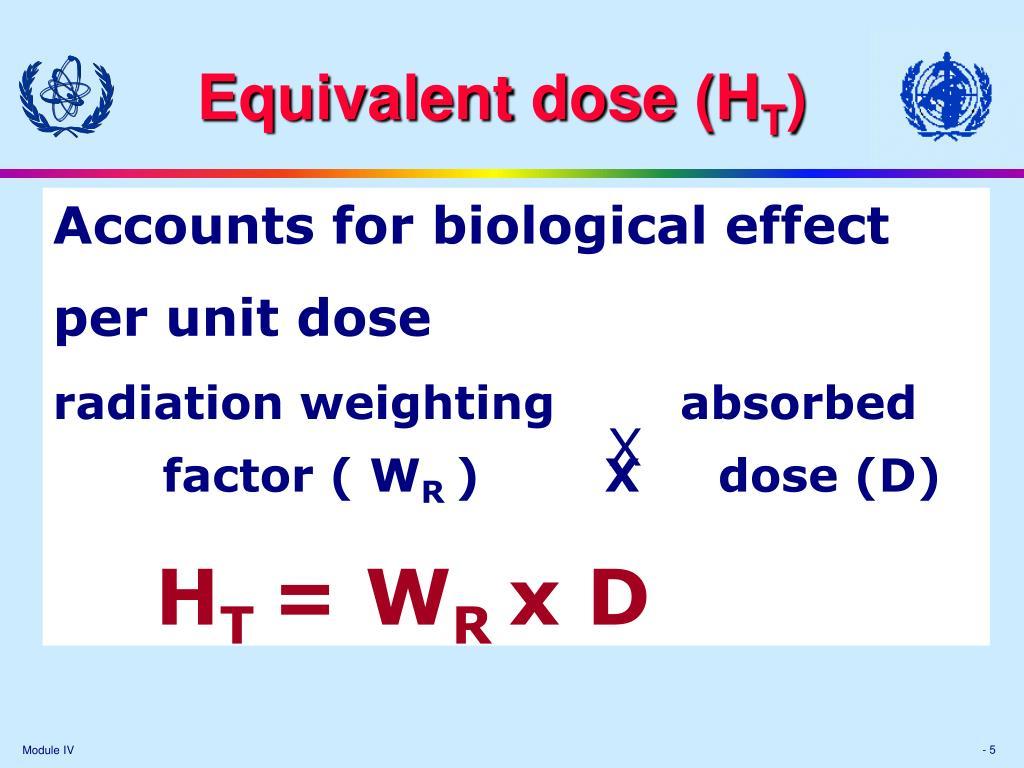 Equivalent dose