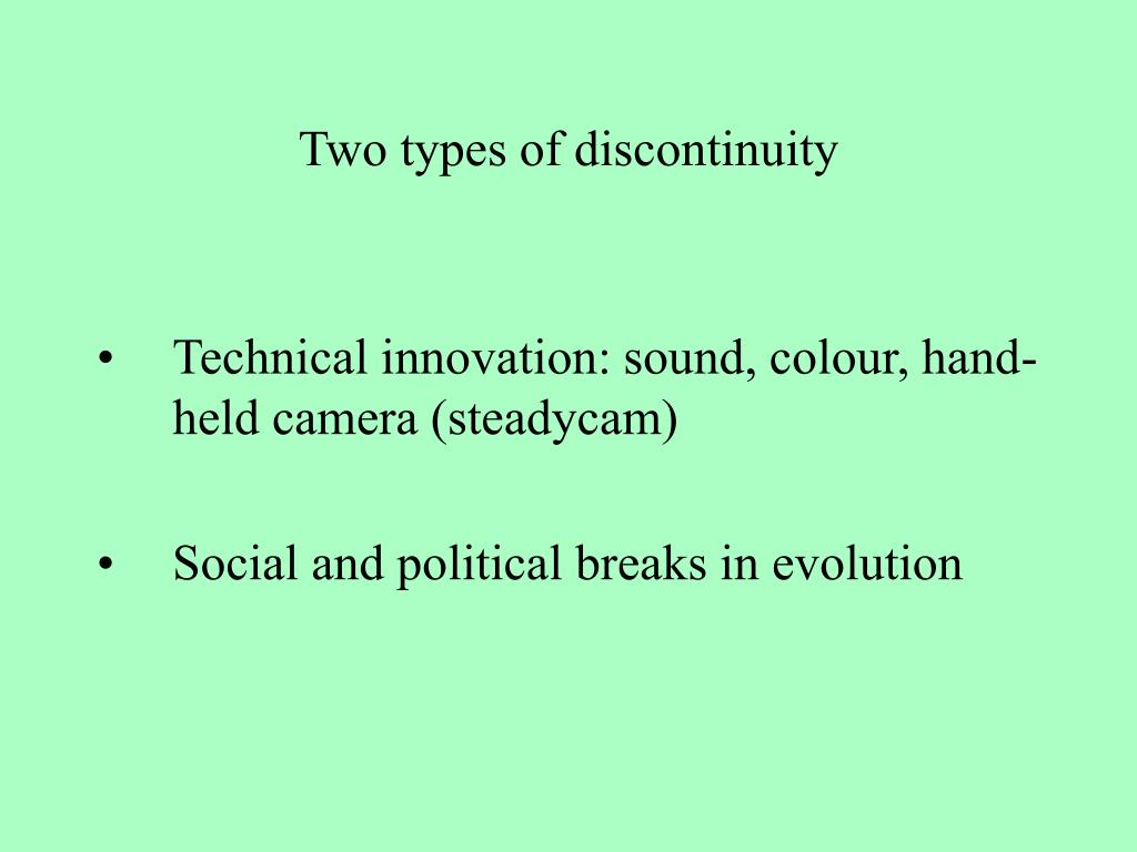 Two types of discontinuity