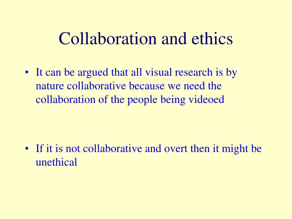 Collaboration and ethics