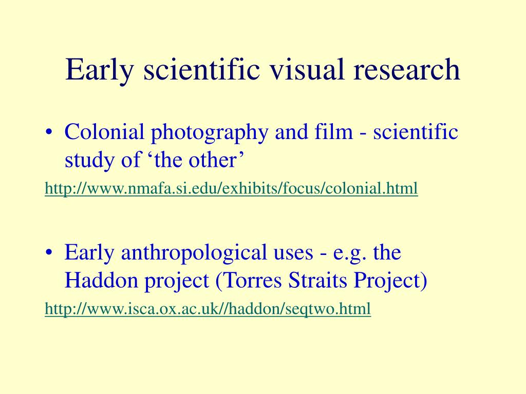 Early scientific visual research