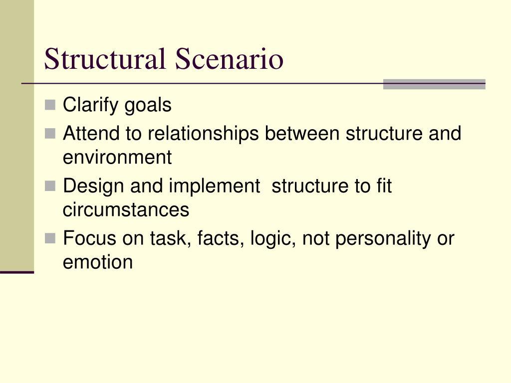 Structural Scenario