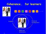 coherence for learners